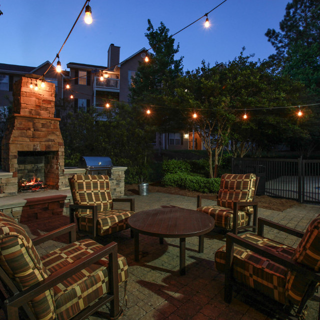 Colony Woods Apartments, Birmingham, AL - Outdoor Fireplace 2